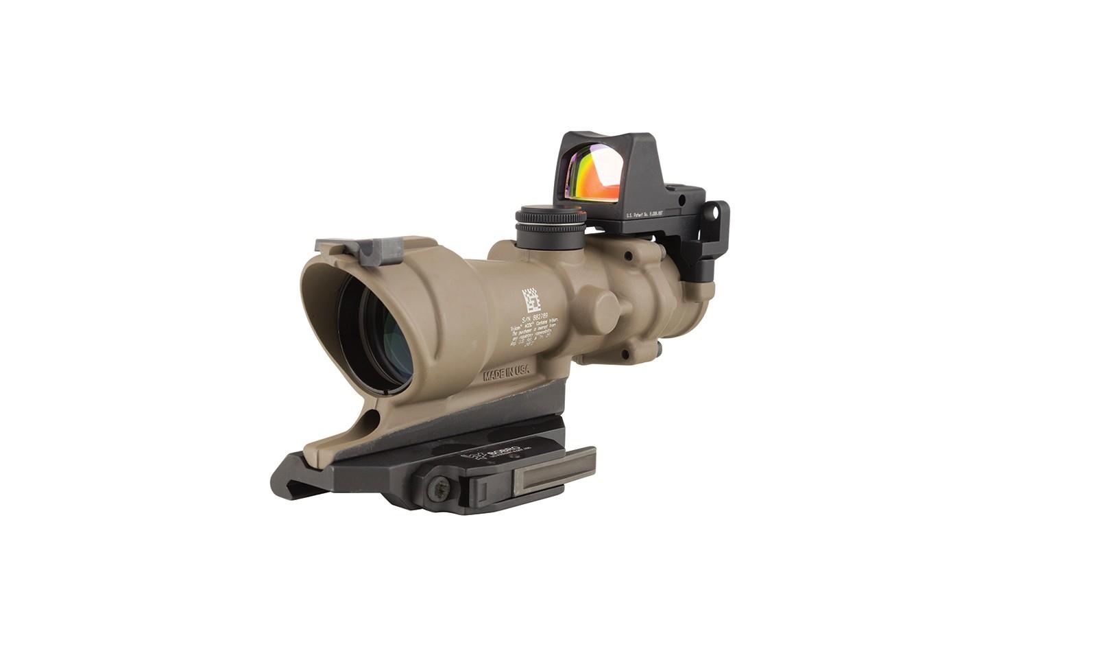 Trijicon ACOG 4x32 ECOS Tritium Riflescope w/ Trijicon RMR<sup>®</sup> -.223 BDC