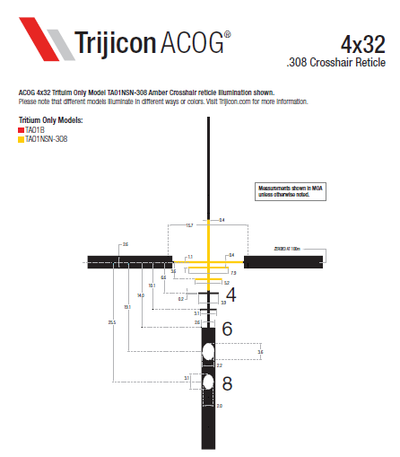 Download ACOG Reticle Dimensions