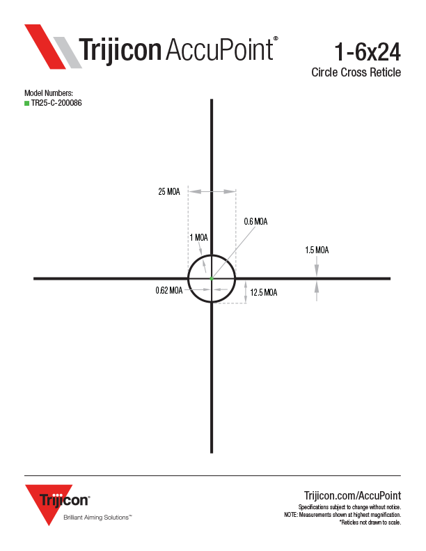 Download AccuPoint Reticle Dimensions