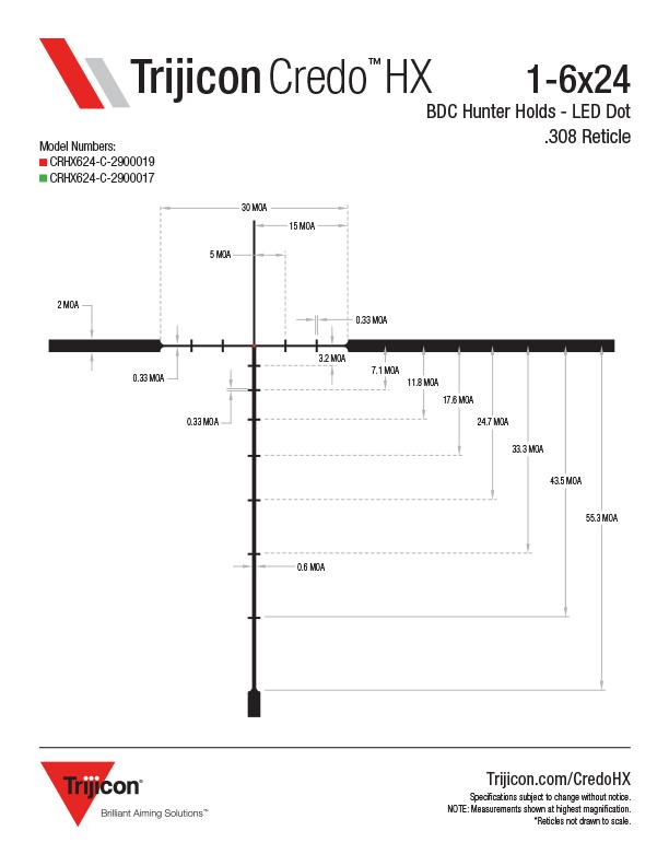 Download Credo HX Reticle Dimensions