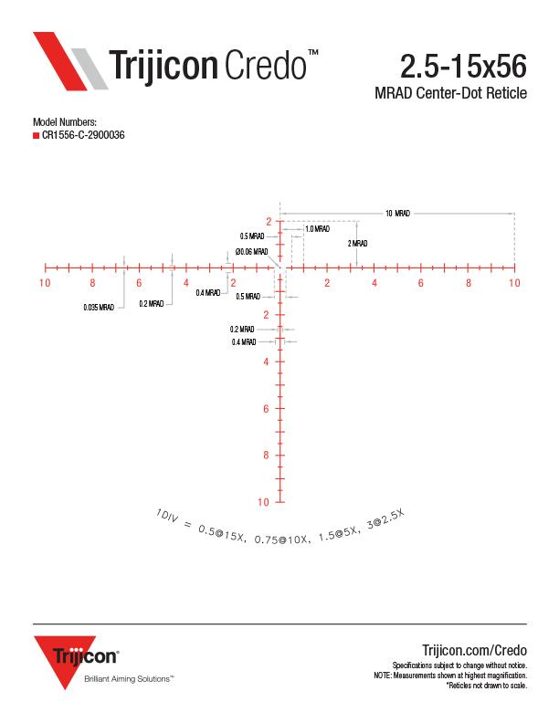 Download Credo Reticle Dimensions