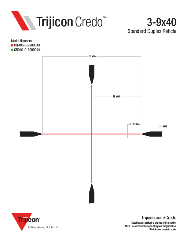 Download Credo Reticle Dimensions