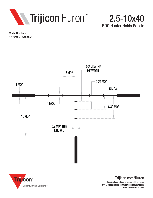 Download Huron Reticle Dimensions