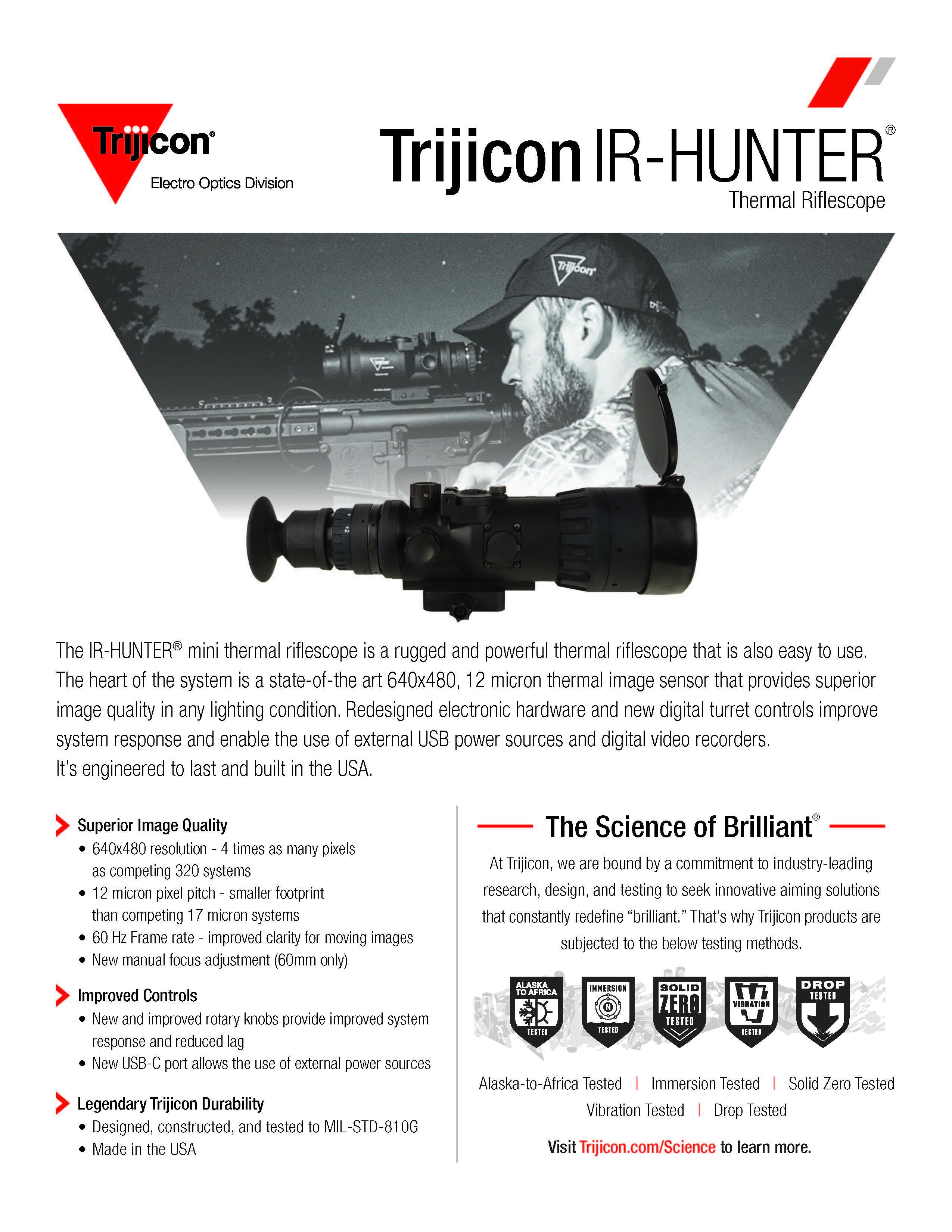 Download IR-HUNTER Spec Sheet