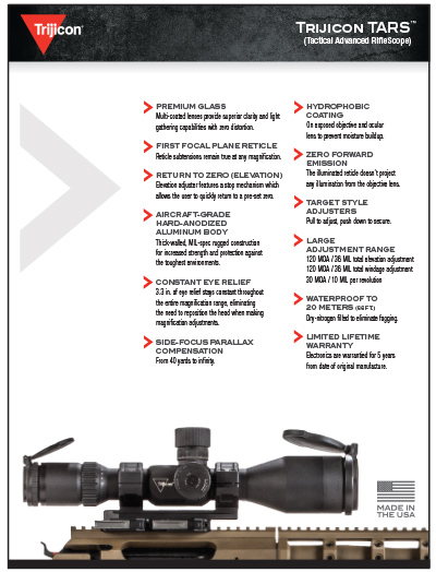 Download TARS Spec Sheet