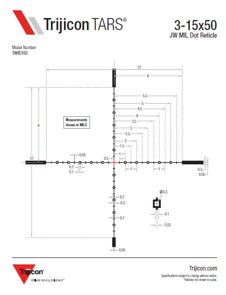 Download TARS Reticle Dimensions