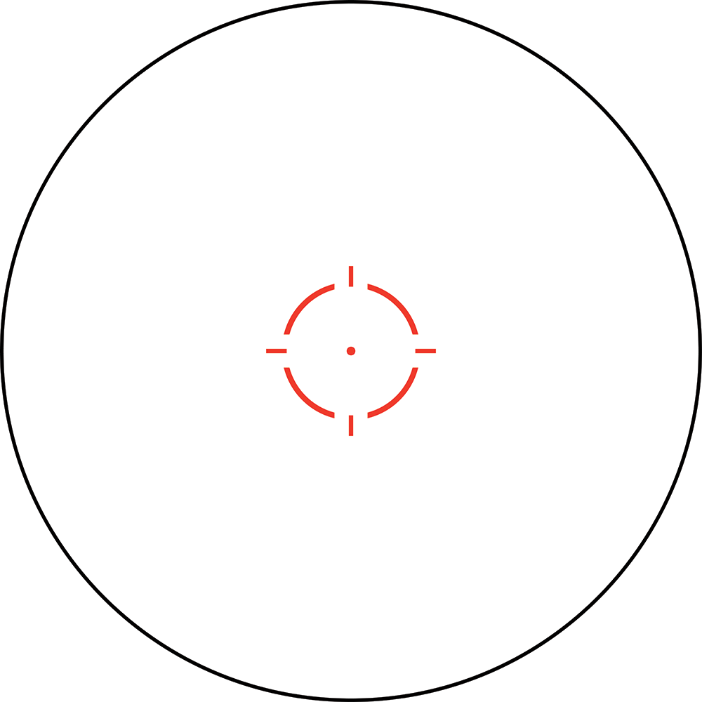 2.0 MOA DOT WITH 68 MOA RETICLE