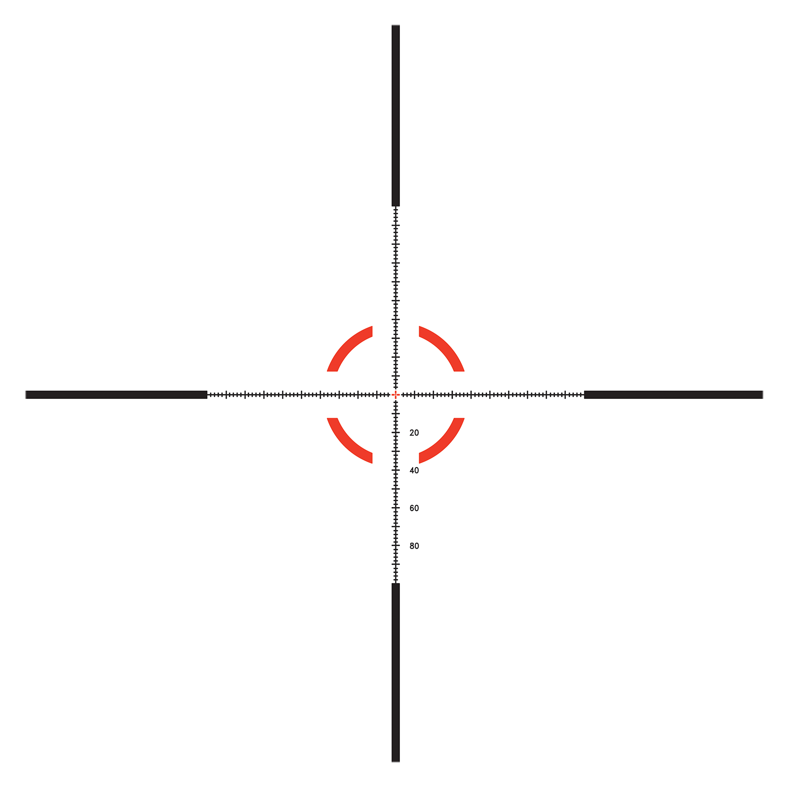 Trijicon Credo<sup>®</sup> HX 1-6x24 RETICLE