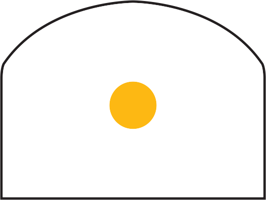 Trijicon RMR<sup>®</sup> Dual Illuminated Reflex Sight RETICLE