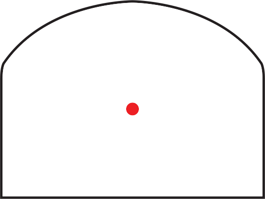 Trijicon RMR<sup>®</sup>cc Red Dot Sight RETICLE