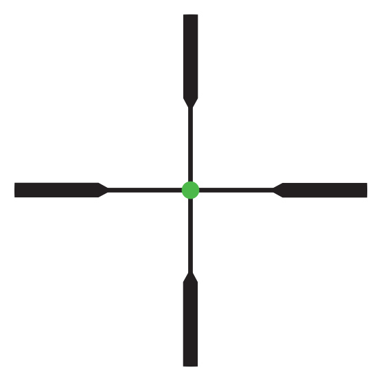 Trijicon AccuPoint<sup>®</sup> 4-16x50 Riflescope RETICLE